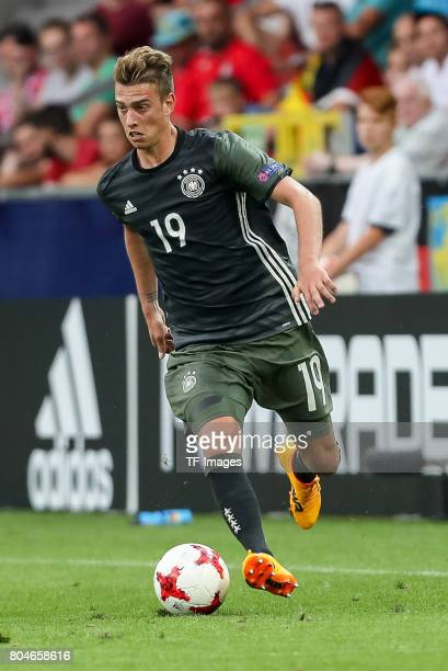 Janik Haberer of Germany in action during the UEFA European Under21 Championship Semi Final match between England and Germany at Tychy Stadium on...