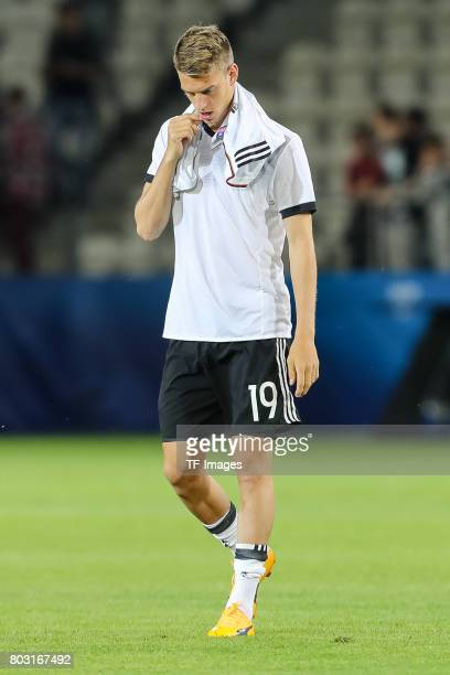 Janik Haberer of Germany looks on during the UEFA European Under21 Championship Group C match between Germany and Denmark at Krakow Stadium on June...