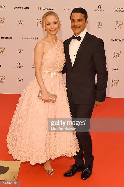 Janin Reinhardt and Kostja Ullmann arrives at the Bambi Awards 2014 on November 13 2014 in Berlin Germany