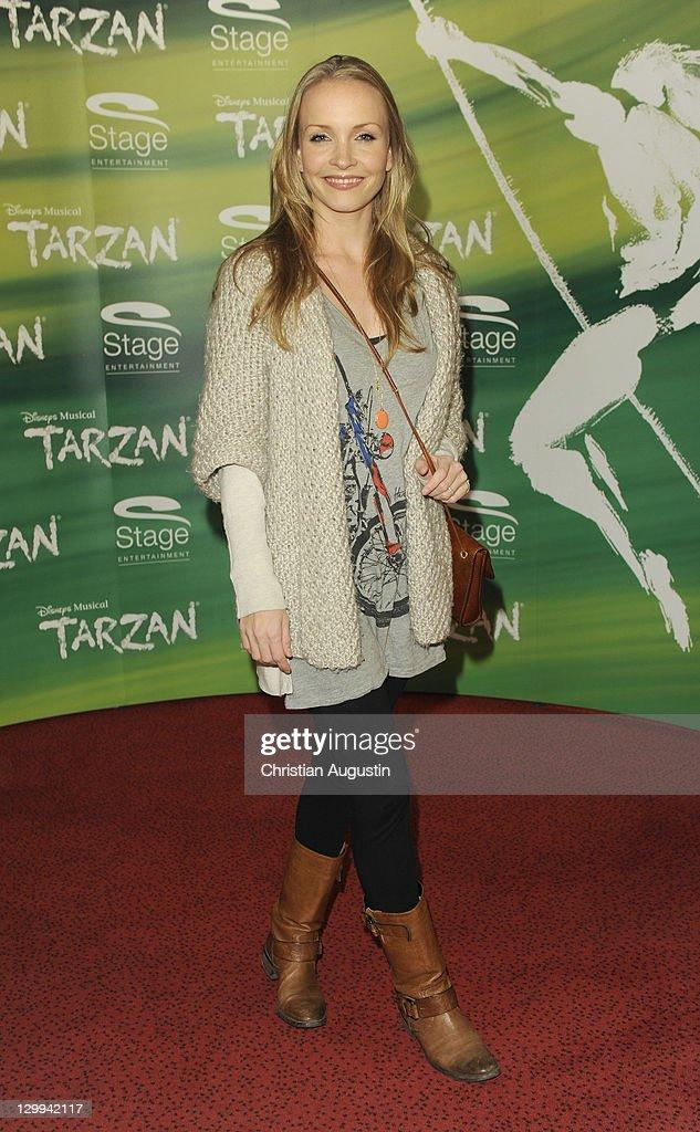 Janin Reinhardt attends Tarzan Musical 3rd anniversary at Theatre 'Neue Flora' on October 22, 2011 in Hamburg, Germany.