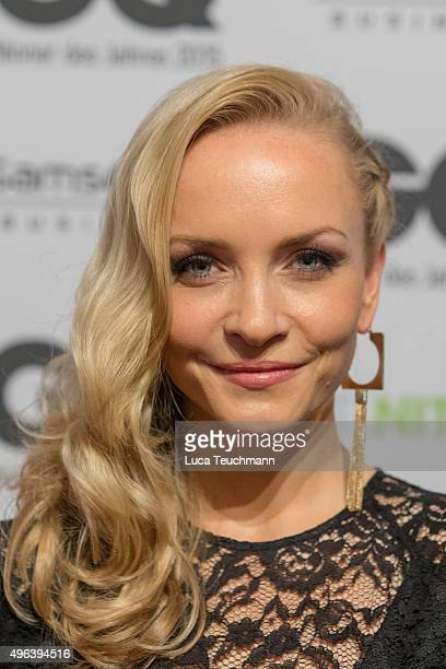 Janin Reinhardt arrives at the GQ Men of the year Award 2015 at Komische Oper on November 5 2015 in Berlin Germany