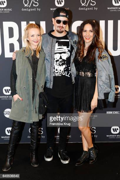 Janin Ullmann Robin Schulz and Johanna Klum attend the 'Robin Schulz The Movie' world premiere at Cinemaxx on February 24 2017 in Hamburg Germany