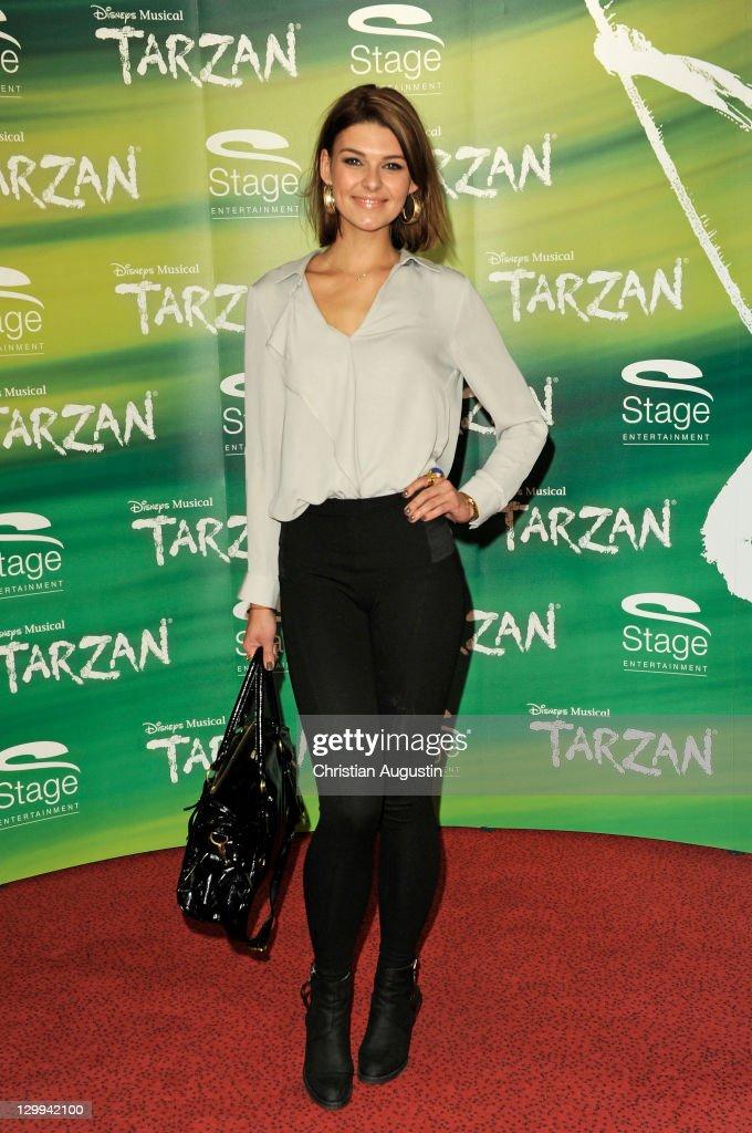 Janina Delia Schmidt attends Tarzan Musical 3rd anniversary at Theatre 'Neue Flora' on October 22, 2011 in Hamburg, Germany.