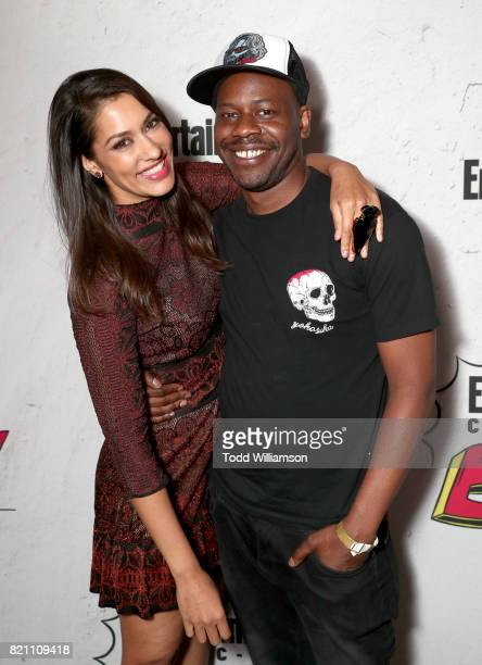 Janina Gavankar and Malcolm Barrett at Entertainment Weekly's annual ComicCon party in celebration of ComicCon 2017 at Float at Hard Rock Hotel San...