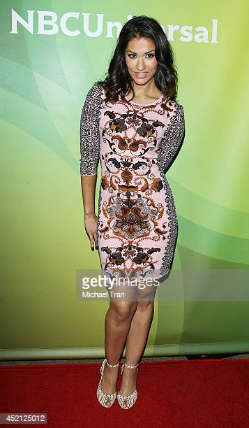 Janina Gavankar arrives at NBCUniversal's 2014 Summer TCA Tour Day 1 held at The Beverly Hilton Hotel on July 13 2014 in Beverly Hills California