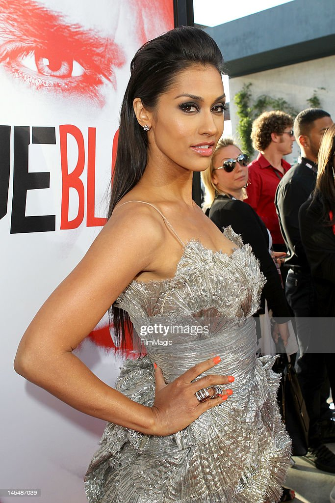 Janina Gavankar attends the HBO's Season 5 Premiere Of 'True Blood' at ArcLight Cinemas Cinerama Dome on May 30, 2012 in Hollywood, California.