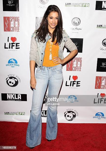 Janina Gavankar attends the No Kill LA Charity Event held at Mauro's Cafe At Fred Segal on April 2 2013 in West Hollywood California