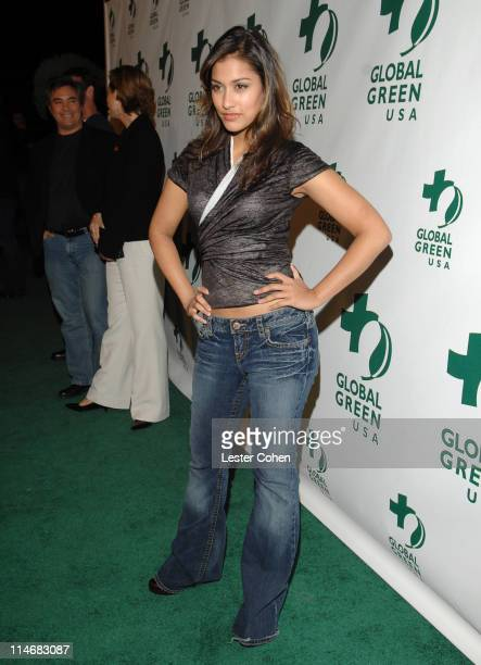 Janina Gavankar during Global Green USA 3rd Annual PreOscar Celebration to Benefit Global Warming Red Carpet at Avalon in Hollywood California United...