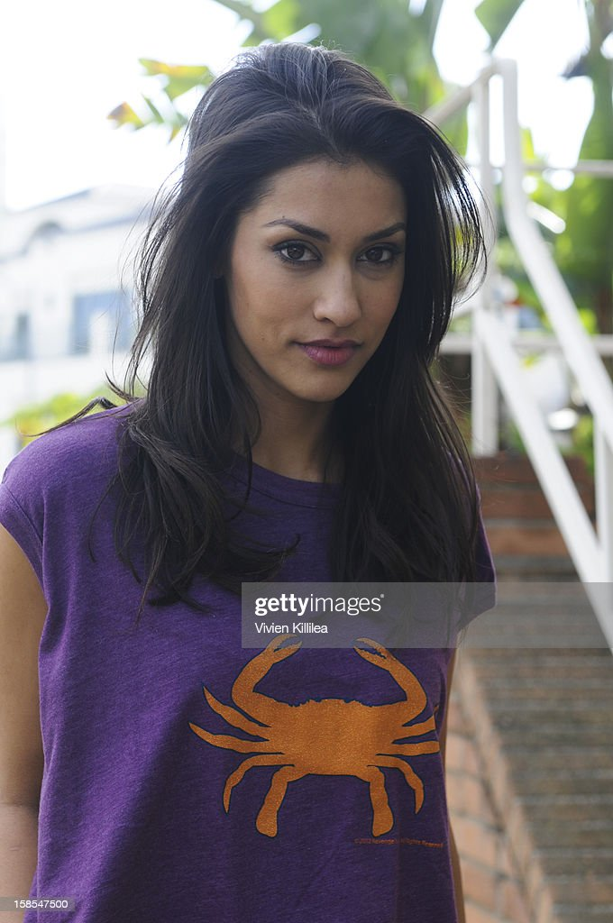 <a gi-track='captionPersonalityLinkClicked' href=/galleries/search?phrase=Janina+Gavankar&family=editorial&specificpeople=4108619 ng-click='$event.stopPropagation()'>Janina Gavankar</a> poses for a photo session on December 18, 2012 in Los Angeles, California.
