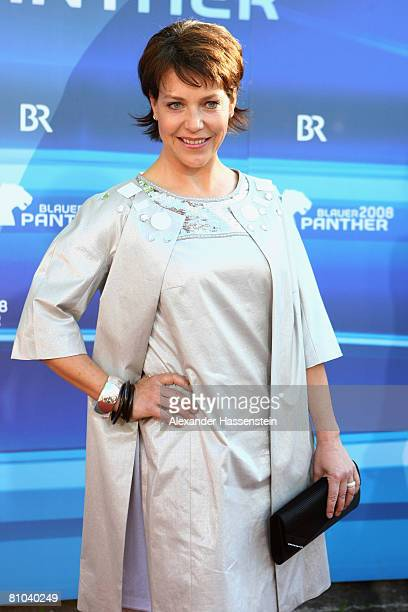Janina Hartwig arrives for the Bavarian Television Award 2008 at the Prinzregenten Theatre on 9 May 2009 in Munich Germany