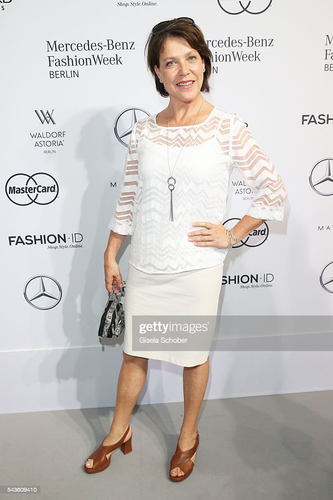 Janina Hartwig attends the Minx by Eva Lutz show during the MercedesBenz Fashion Week Berlin Spring/Summer 2017 at Erika Hess Eisstadion on June 29...