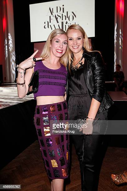 Janina Korn and Anna Christina Hofbauer attend the Audi Fashion Award 2014 on October 09 2014 in Hamburg Germany
