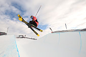 Janina Kuzma of New Zealand competes in the FIS Freestyle Ski World Cup Halfpipe Finals during the Winter Games NZ at Cardrona Alpine Resort on...