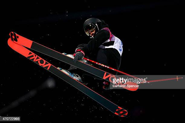 Janina Kuzma of New Zealand competes in the Freestyle Skiing Ladies' Ski Halfpipe Finals on day thirteen of the 2014 Winter Olympics at Rosa Khutor...