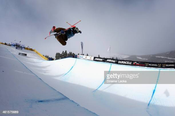 Janina Kuzma of New Zealand competes in the women's ski halfpipe qualifications during day 2 of the US Snowboarding and Freestyle Grand Prix...