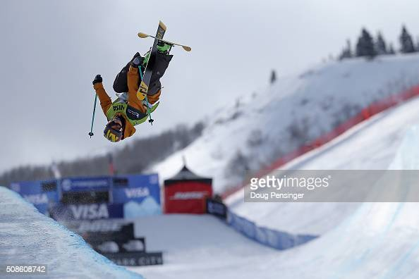 Janina Kuzma of New Zealand skis to fifth place in the ladies' FIS Freestyle Ski Halfpipe World Cup at the 2016 Visa US Freeskiing Park City Grand...