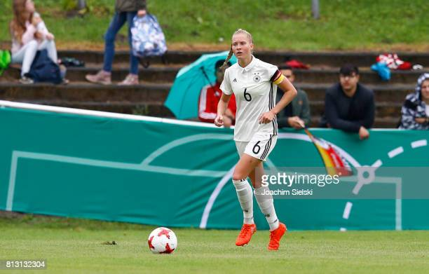 Janina Minge of Germany during the international friendly match between U19 Women's Germany and U19 Women's USA at OBI Arena on July 2 2017 in Rheine...