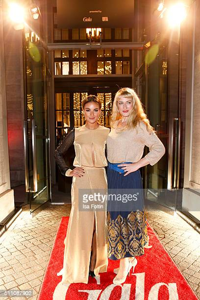 Janina Uhse and Eva Mona Rodekirchen attend the 'Berlin Opening Night Of GALA UFA Fiction on February 11 2016 in Berlin Germany