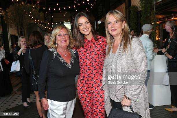 Janina Uhse and her mother Andrea Uhse and her grandmother Gabriela during the Marc Cain Fashion Show after show party Spring/Summer 2018 at ewerk on...