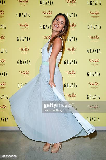 Janina Uhse attends the GRAZIA Best Inspiration Award 2015 on May 06 2015 in Berlin Germany