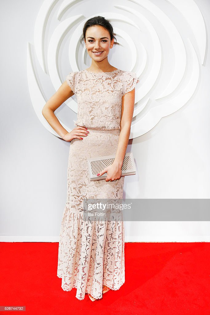 Janina Uhse attends the Rosenball 2016 on April 30, 2016 in Berlin, Germany.