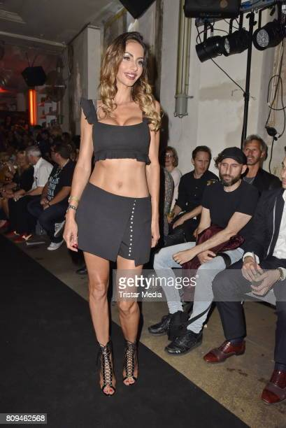 Janina Youssefian attends the Matthias Maus Fashion Show Autumn/Winter 2017 at Kaufhaus Jandorf on July 5 2017 in Berlin Germany