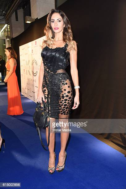 Janina Youssefian attends the Opening Party of the Men's Beauty Clinic on October 15 2016 in Duesseldorf Germany