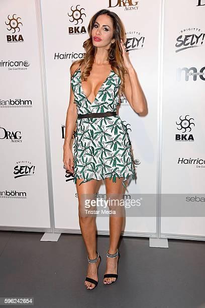 Janina Youssefian attends the Talkshow Premiere With Sebastian Boehm 'Waschen Schneiden Talken' on August 26 2016 in Berlin Germany