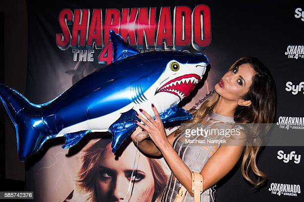Janina Youssefian during the 'Sharknado The 4th Awakens' Berlin Premiere on August 3 2016 in Berlin Germany