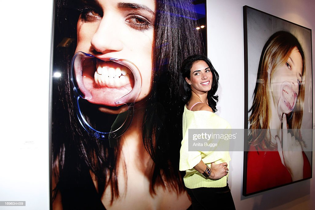 Janine Habeck attends the opening of the 'Niels Ruf Art Exhibition' at Camera Works on May 29, 2013 in Berlin, Germany.