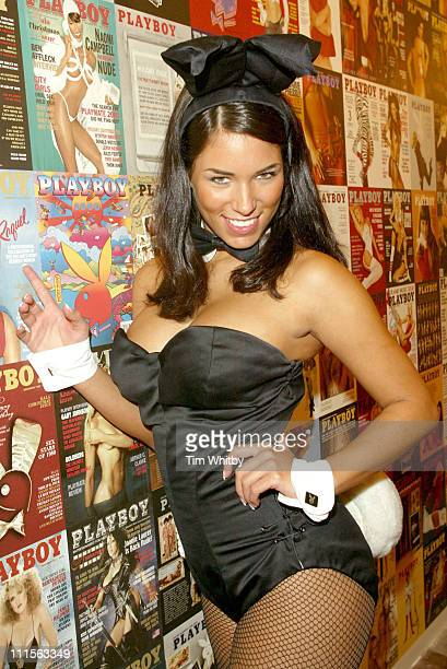 Janine Habeck German Playmate of the Year 2004 during Playboy Exposed Photocall October 19 2005 at Sony Ericsson Proud Camden in London Great Britain