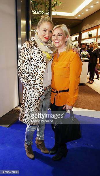Janine Kunze and Aleksandra Bechtel attend the Joop Store Opening at Koe Bogen Dusseldorf on March 19 2014 in Dusseldorf Germany
