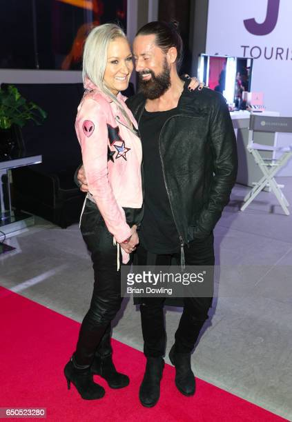 Janine Kunze and Dirk Budach arrive at the JT Touristik party at Hotel De Rome on March 9 2017 in Berli