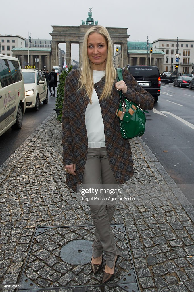Janine Kunze attends the Glaw show during Mercedes-Benz Fashion Week Autumn/Winter 2014/15 at Brandenburg Gate on January 16, 2014 in Berlin, Germany.