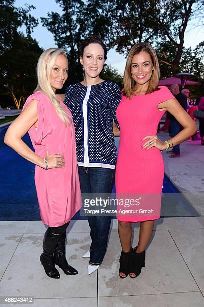 Janine Kunze Jasmin Wagner and Jana Ina Zarella attend the JT Touristik BBQ on September 2 2015 in Berlin Germany