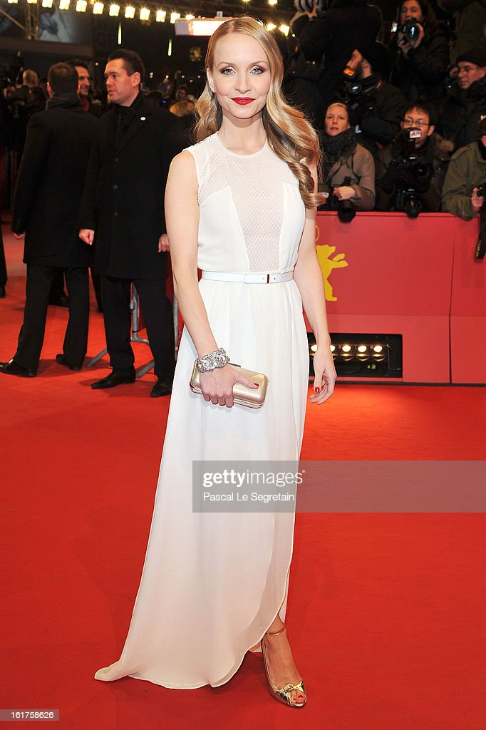 Janine Reinhardt attends the 'The Croods' Premiere during the 63rd Berlinale International Film Festival at Berlinale Palast on February 15, 2013 in Berlin, Germany.