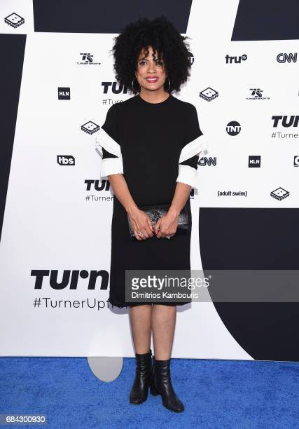 Janine Sherman Barrois attends the Turner Upfront 2017 arrivals on the red carpet at The Theater at Madison Square Garden on May 17 2017 in New York...