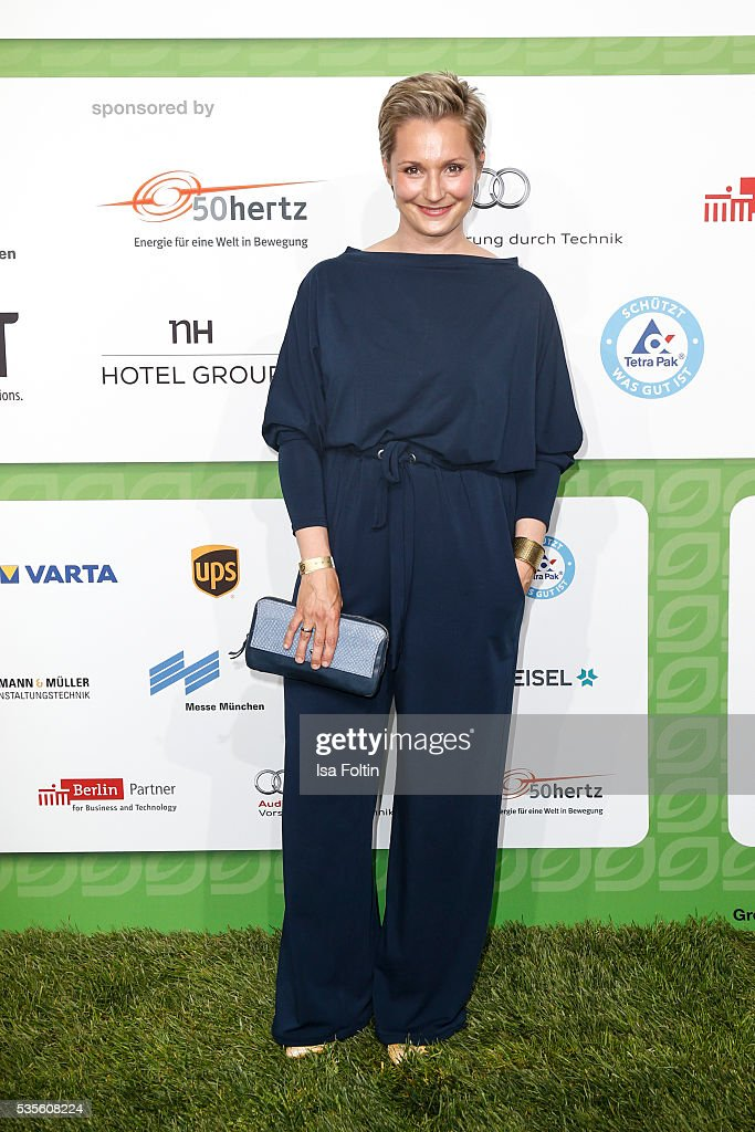 Janine Steeger attends the Green Tec Award at ICM Munich on May 29, 2016 in Munich, Germany.