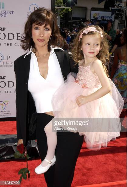 Janine Turner and daughter Juliette during 'Star Wars Episode II Attack of the Clones' Charity Premiere Los Angeles at Grauman's Chinese Theater in...