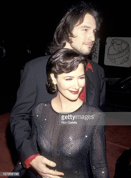 Janine Turner and John Corbett during 51st Annual Golden Globe Awards at Beverly Hilton Hotel in Beverly Hills California United States