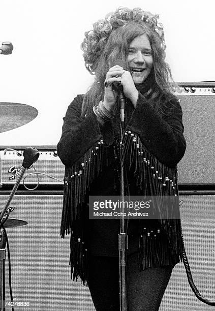 Janis Joplin and Big Brother The Holding Company perform at the New Year's Wail in Golden Gate Park on January 1 1967 in San Francisco California