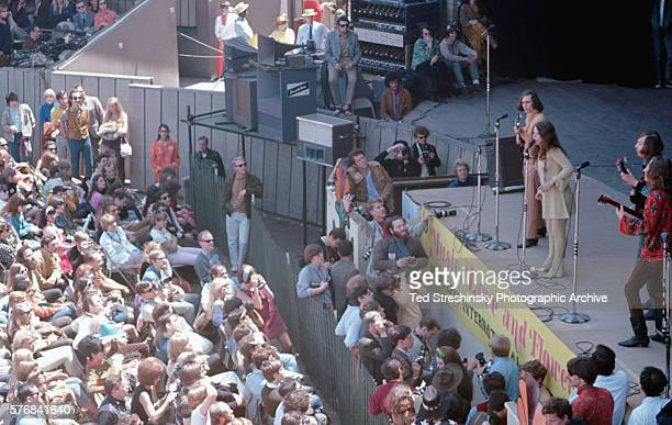 Janis Joplin with the guitarists of Big Brother and the Holding Company on stage at the Monterey Pop Festival The fame garnered from this performance...