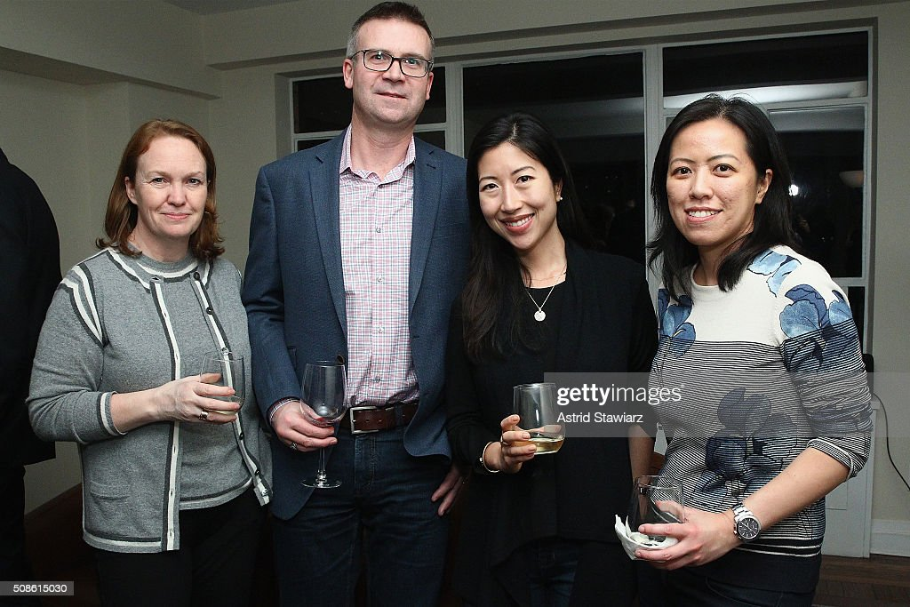 Janis Leigh, Terry Leigh, May Yoon, and Annette Fung attend an intimate evening of friends and colleagues at Mr. Colin Dougherty's New York City apartment on February 5, 2016 in New York City.