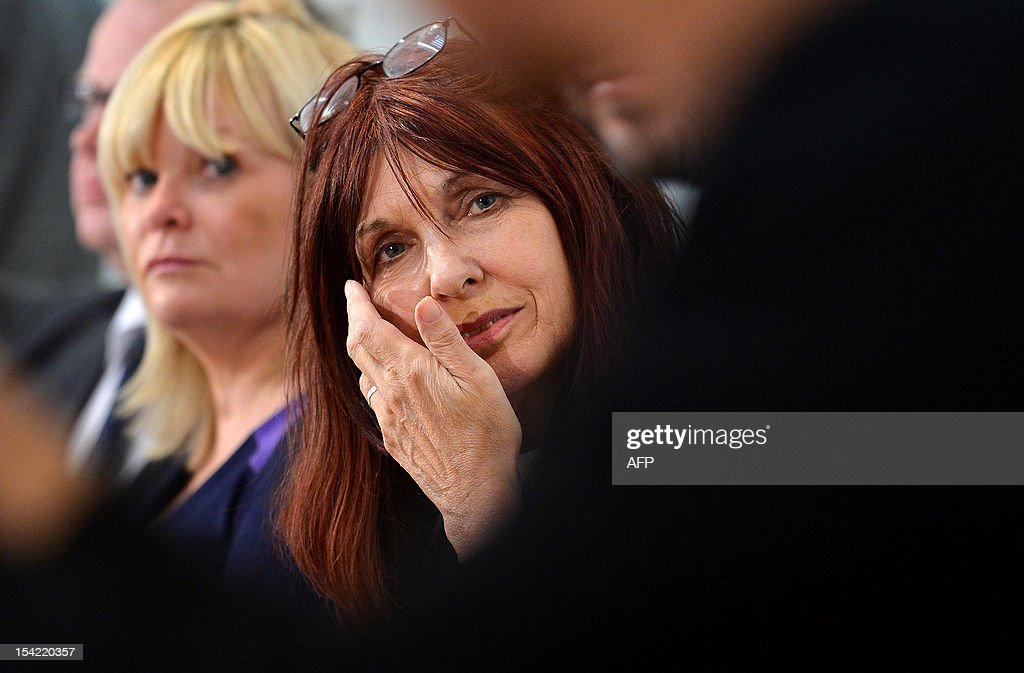 Janis Sharp, mother of hacker Gary McKinnon, an Asperger's sufferer who broke into US military computers and who has fought a decade-long fight against extradition, attends a press conference in London on October 16, 2012. Theresa May, British Home Secretary, said extradition would breach 46-year-old McKinnon's human rights as his psychiatrists believed there was a high risk that he would attempt suicide were he sent to the United States.