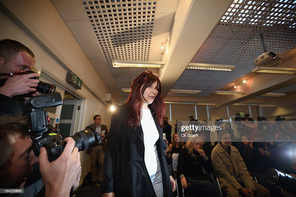 Janis Sharp, the mother of British computer hacker Gary McKinnon, attends a press conference following a decision by Home Secretary Theresa May not to extradite Mr McKinnon to the US on October 16, 2012 in London, England. Mr McKinnon, who sufferers from Asperger''s Syndrome, admits to accessing US Government computers but claims he was looking for evidence of UFOs. Mrs May told MPs in the House of Commons that Mr McKinnon was 'seriously ill' and that enforcing the extradition warrant would be in breech of his human rights.