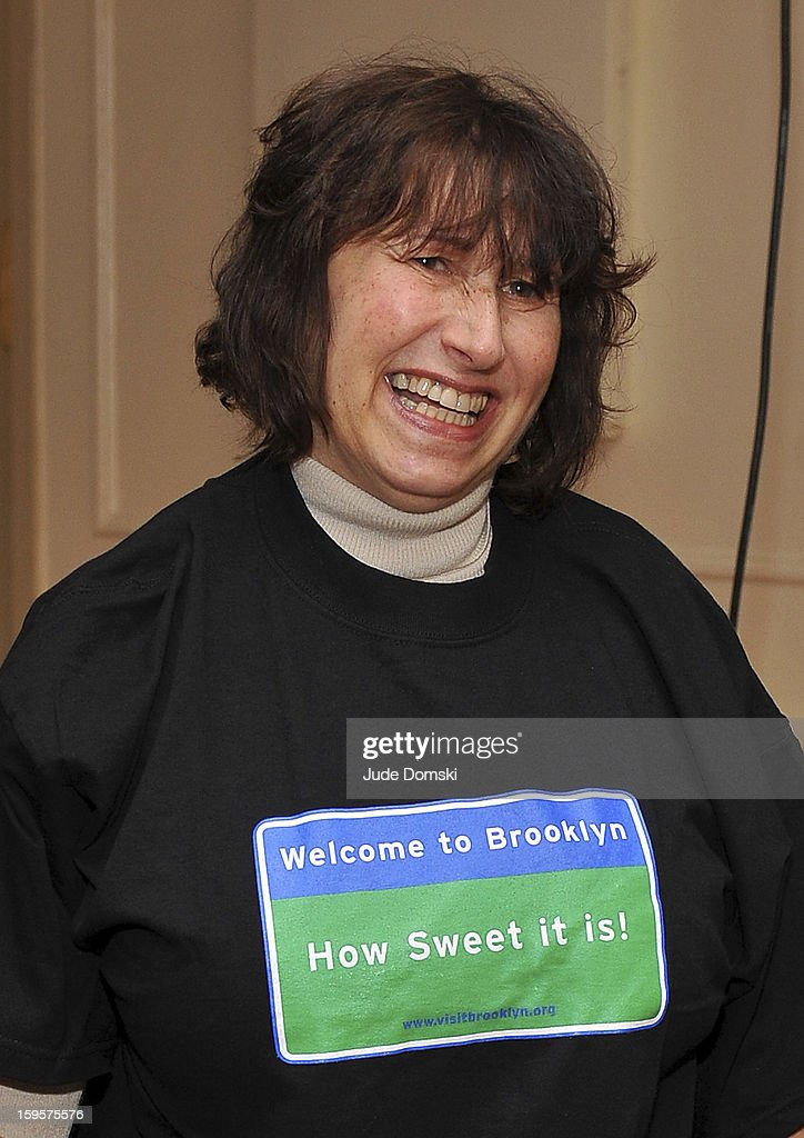 Janis Winehouse attends the Amy Winehouse Foundation grant presentation at the Brooklyn Conservatory of Music on January 16, 2013 in the Brooklyn borough of New York City.