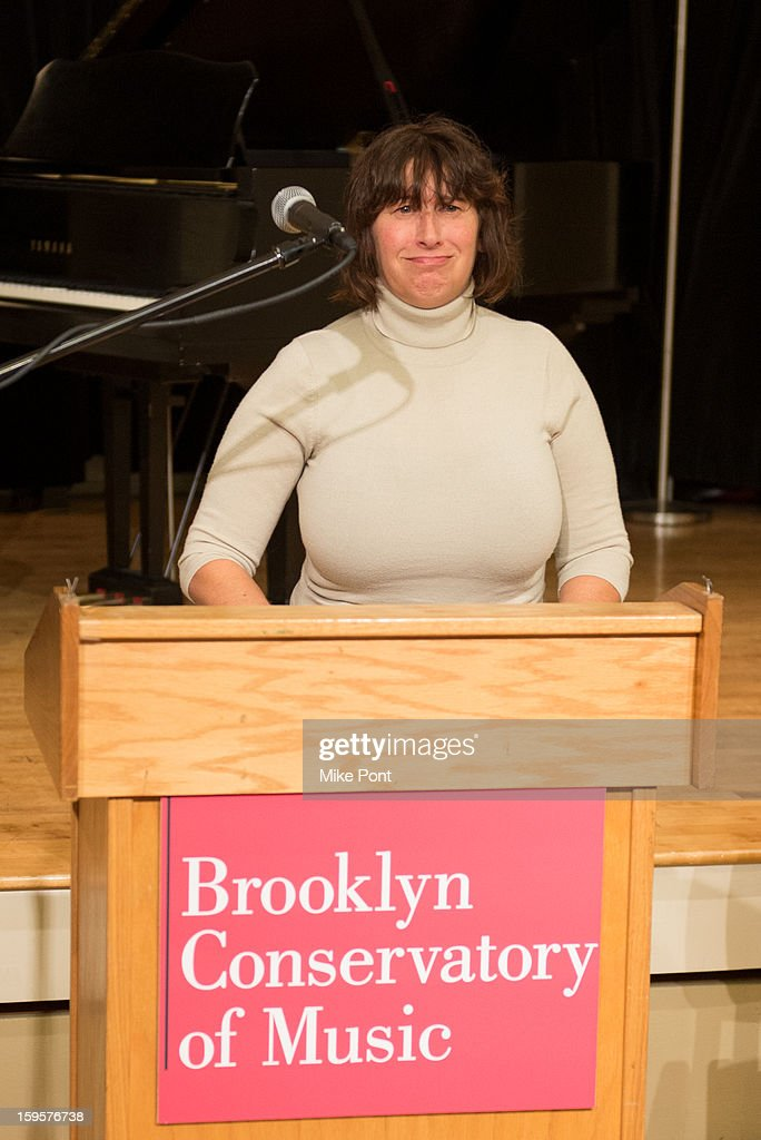 <a gi-track='captionPersonalityLinkClicked' href=/galleries/search?phrase=Janis+Winehouse&family=editorial&specificpeople=4878411 ng-click='$event.stopPropagation()'>Janis Winehouse</a> attends the Amy Winehouse Foundation Grant award presentation at Brooklyn Conservatory of Music on January 16, 2013 in New York City.