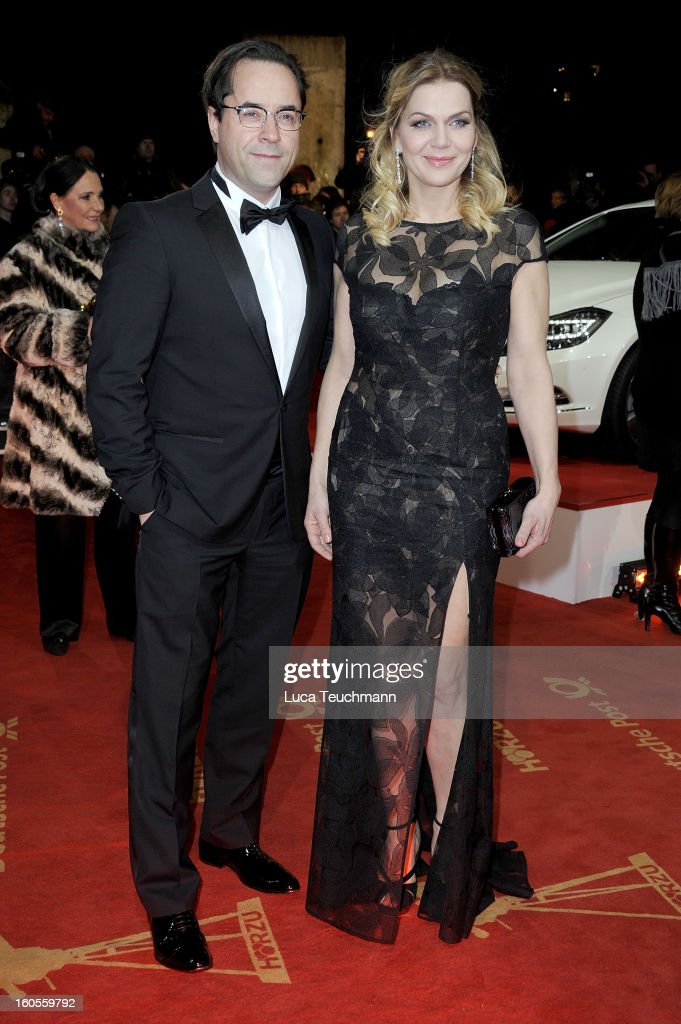 Jan-Josef Liefers and Anna Loos attend the 48th Golden Camera Awards at the Axel Springer Haus on February 2, 2013 in Berlin, Germany.