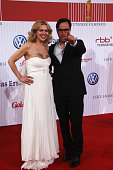 JanJosef Liefers and Anna Loos attend the German film award at Friedrichstadtpalast on April 23 2010 in Berlin Germany