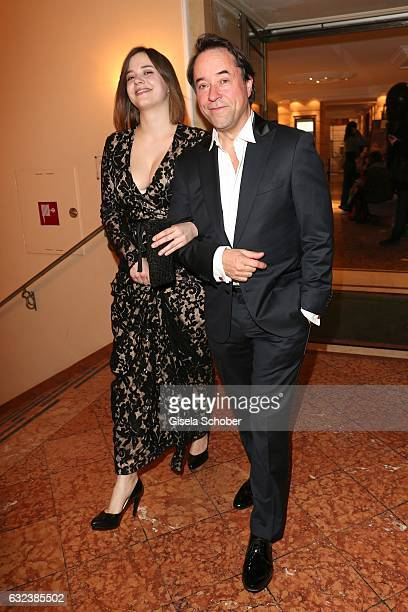 JanJosef Liefers and his daughter Pauline Liefers during the 44th German Film Ball 2017 party at Hotel Bayerischer Hof on January 21 2017 in Munich...